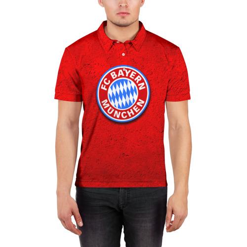 Мужская рубашка поло 3D  Фото 03, Бавария лого