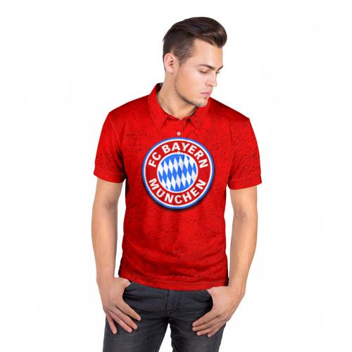 Мужская рубашка поло 3D  Фото 05, Бавария лого