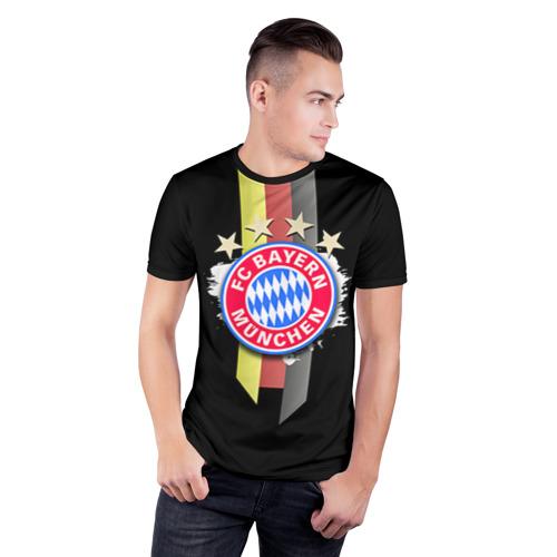 Мужская футболка 3D спортивная ФК Бавария Фото 01