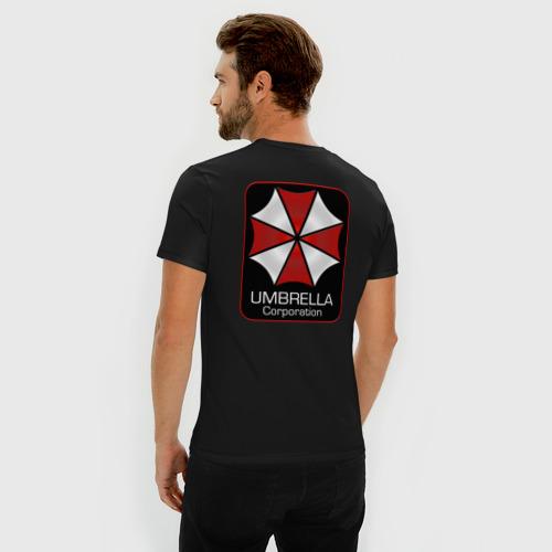 Мужская футболка хлопок Slim Umbrella corporation Нашивка-2 Фото 01