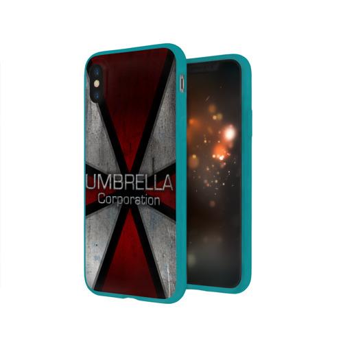 Чехол для Apple iPhone X силиконовый глянцевый Umbrella corps Фото 01