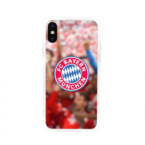 Чехол для Apple iPhone X силиконовый глянцевый Бавария