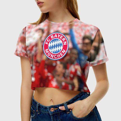 Женская футболка 3D укороченная  Фото 01, Бавария
