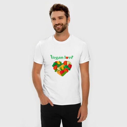 Мужская футболка премиум  Фото 03, Vegan love