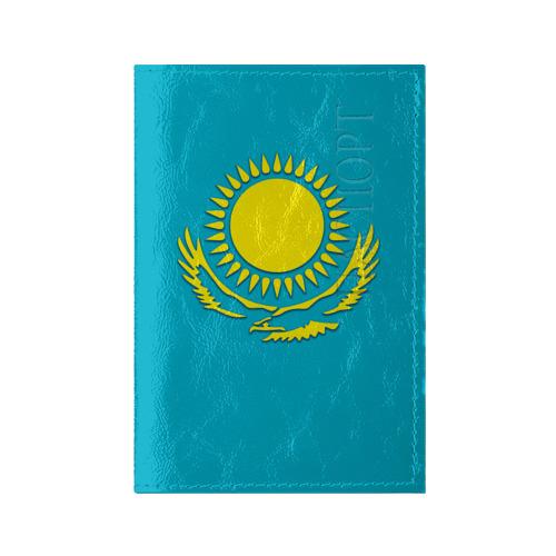 Обложка для паспорта глянцевая кожа Казахстан