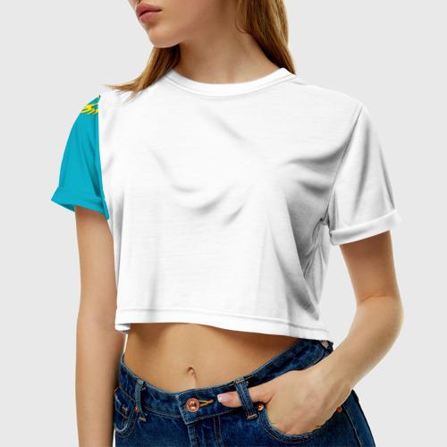 Женская футболка 3D укороченная  Фото 01, Казахстан