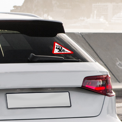 Наклейка на автомобиль Обезьяна с гранатой Фото 01