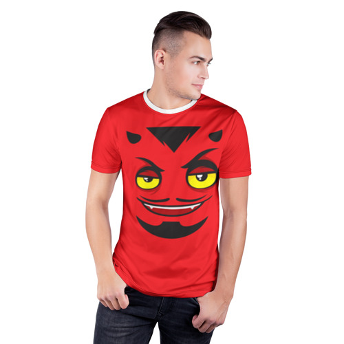 Мужская футболка 3D спортивная  Фото 03, Дьявол