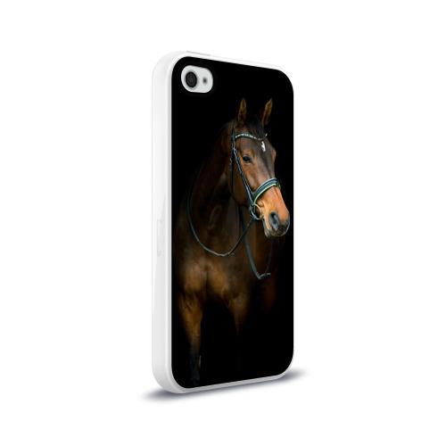 Чехол для Apple iPhone 4/4S силиконовый глянцевый Породистый жеребец Фото 01