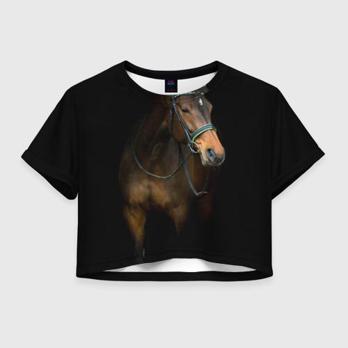 Женская футболка Cropp-top Породистый жеребец Фото 01