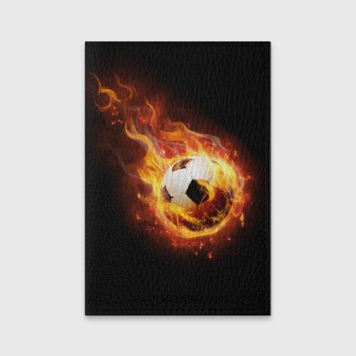 Обложка для паспорта матовая кожа Страсть к футболу