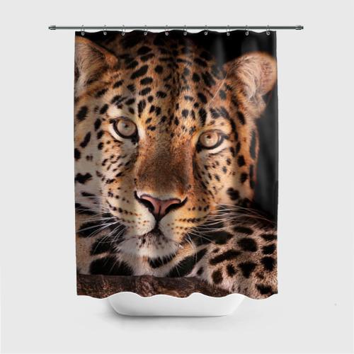 Штора для ванной Леопард от Всемайки