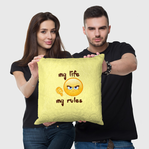 Подушка 3D Моя жизнь - мои правила Фото 01