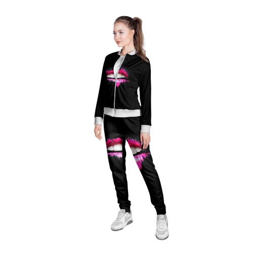 Женская олимпийка 3D  Фото 05, Губы в краске