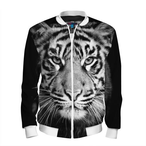 Мужской бомбер 3D  Фото 01, Красавец тигр