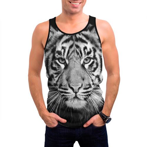 Мужская майка 3D Красавец тигр Фото 01