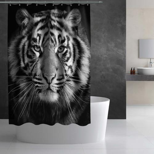Штора 3D для ванной Красавец тигр Фото 01