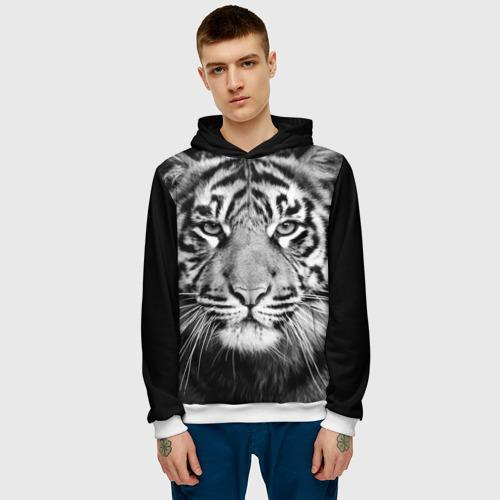 Мужская толстовка 3D Красавец тигр Фото 01