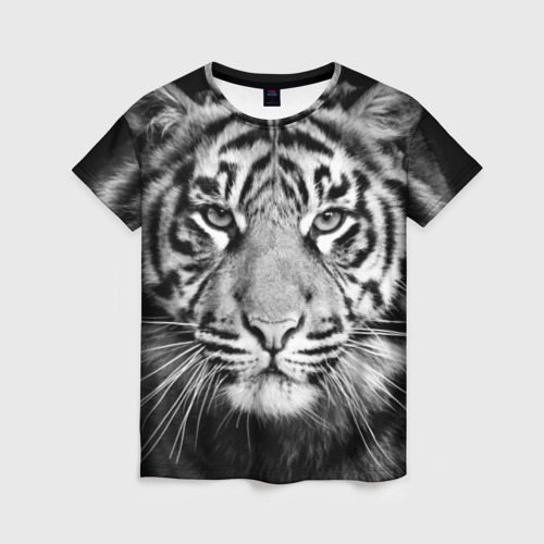 Женская футболка 3D Красавец тигр Фото 01