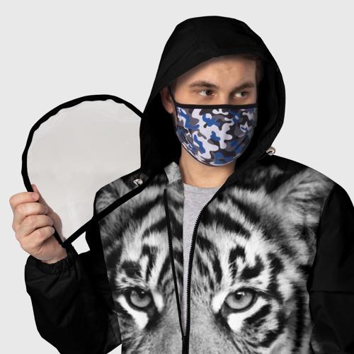 Ветровка 3D с защитным экраном Красавец тигр Фото 01