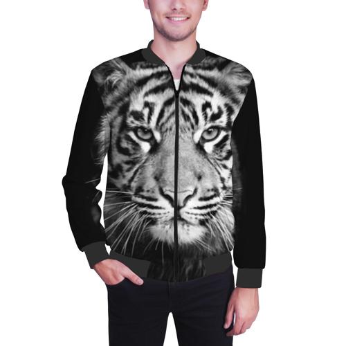 Мужской бомбер 3D Красавец тигр Фото 01