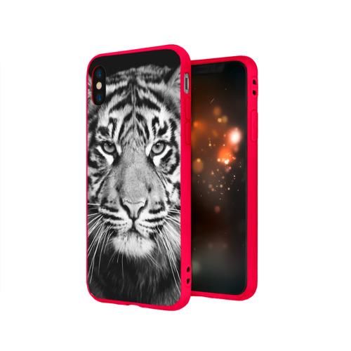 Чехол для iPhone X матовый Красавец тигр Фото 01