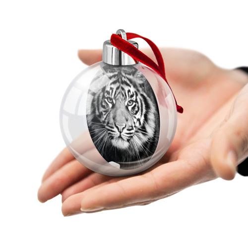 Ёлочный шар Красавец тигр Фото 01