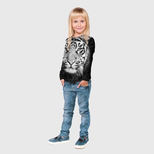 Детский лонгслив 3D Красавец тигр Фото 01