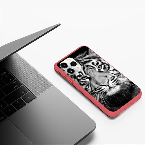 Чехол для iPhone 11 Pro матовый Красавец тигр Фото 01