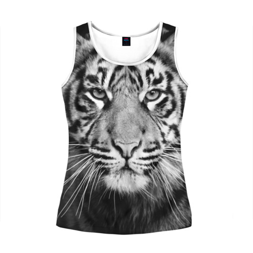 Женская майка 3D Красавец тигр Фото 01