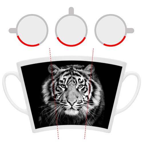 Кружка Латте  Фото 06, Красавец тигр