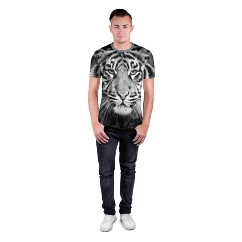 Мужская футболка 3D спортивная Красавец тигр Фото 01