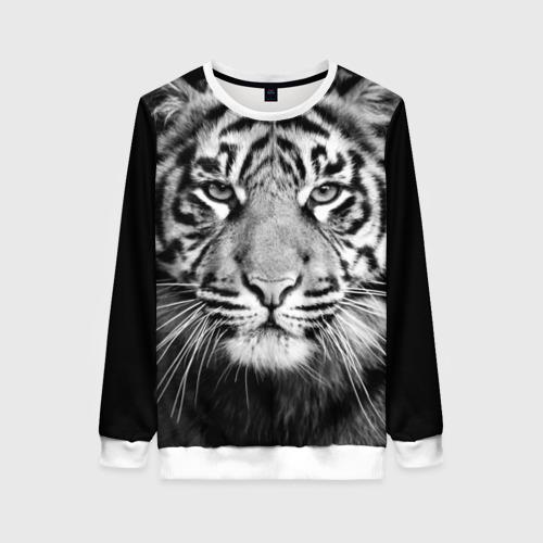 Женский свитшот 3D Красавец тигр Фото 01