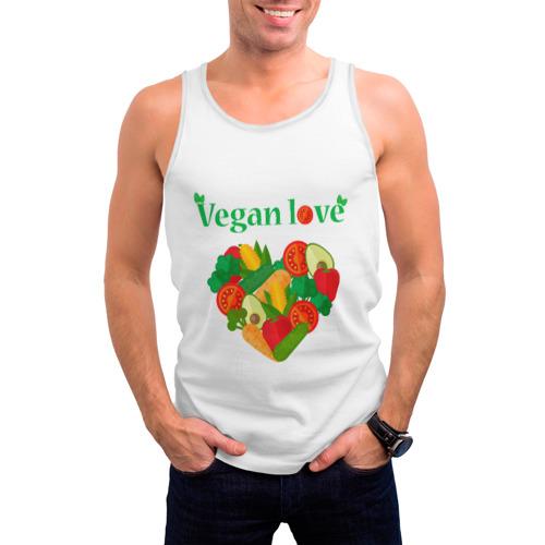Мужская майка 3D  Фото 03, Vegan love