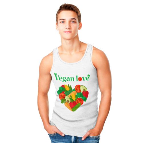 Мужская майка 3D  Фото 05, Vegan love
