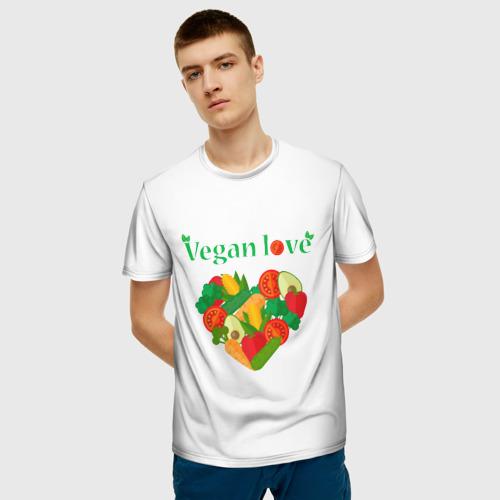 Мужская футболка 3D  Фото 03, Vegan love