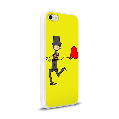 Чехол для Apple iPhone 5/5S силиконовый глянцевый  Фото 02, Навстречу любви