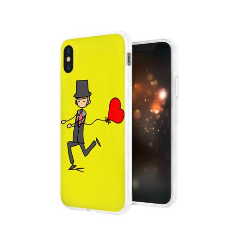 Чехол для Apple iPhone X силиконовый глянцевый  Фото 03, Навстречу любви