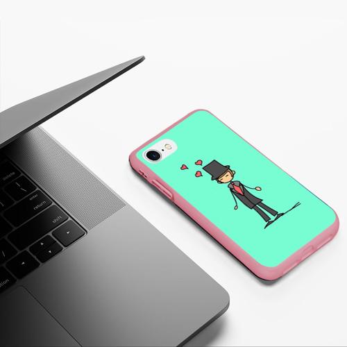 Чехол для iPhone 7/8 матовый Жених Фото 01
