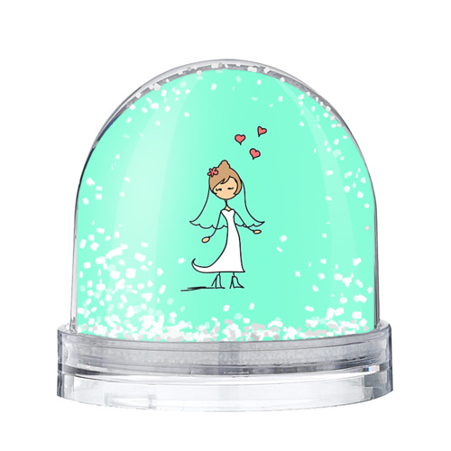 Водяной шар со снегом Невеста