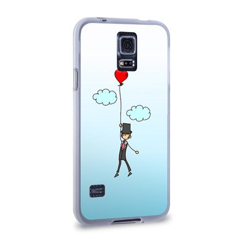 Чехол для Samsung Galaxy S5 силиконовый  Фото 02, Жених на шарике