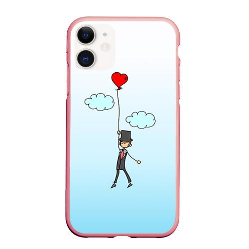 Чехол для iPhone 11 матовый Жених на шарике Фото 01