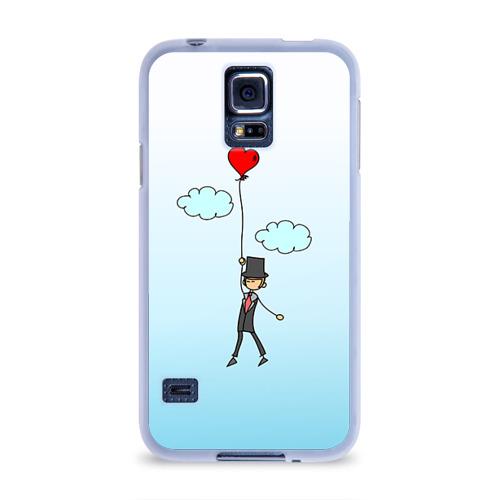 Чехол для Samsung Galaxy S5 силиконовый  Фото 01, Жених на шарике