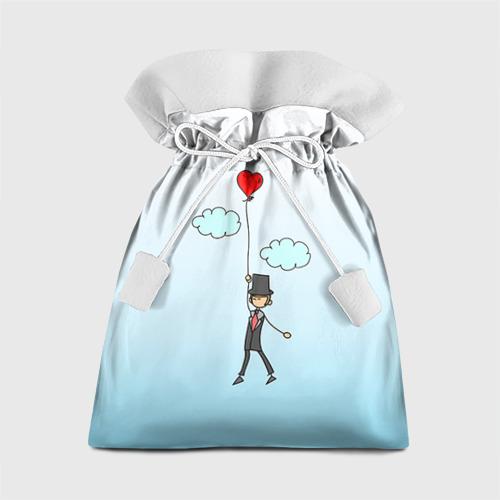 Подарочный 3D мешок Жених на шарике