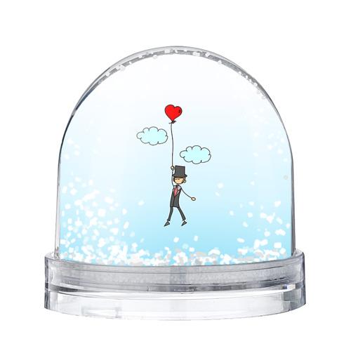 Водяной шар со снегом Жених на шарике