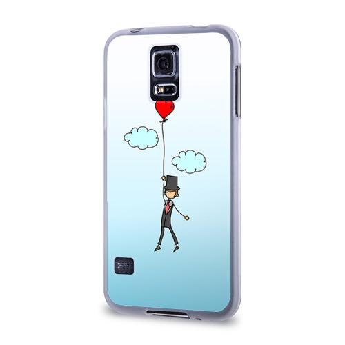 Чехол для Samsung Galaxy S5 силиконовый  Фото 03, Жених на шарике