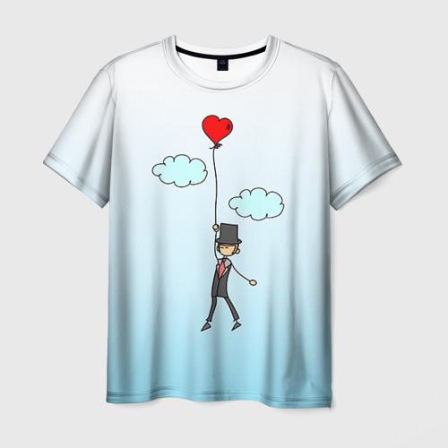 Мужская футболка 3D  Фото 03, Жених на шарике