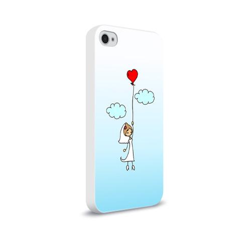 Чехол для Apple iPhone 4/4S soft-touch  Фото 02, Невеста на шарике