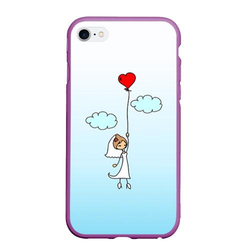 Чехол для iPhone 6/6S матовый Невеста на шарике Фото 01