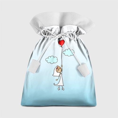 Подарочный 3D мешок Невеста на шарике